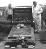 21 Federico Arcos and Albert Meltzer at Durruti's grave