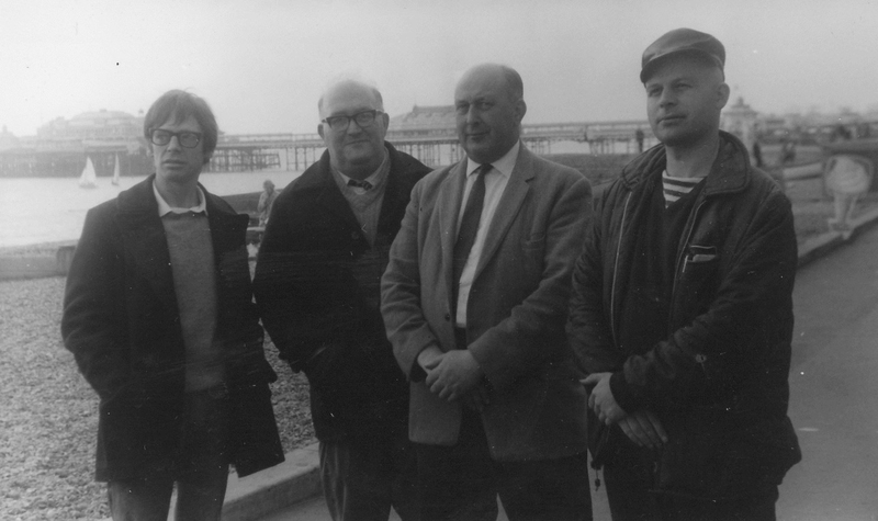 Ted Kavanagh, Albert Meltzer, Arthur Moyse & Jim Duke, Brighton 4 October 1969