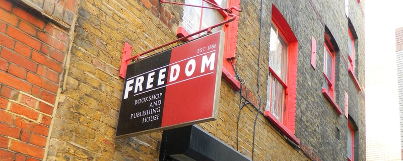 Freedom Bookshop sign