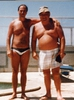 Stuart Christie and Albert Meltzer in Faro, Portugal 1985?