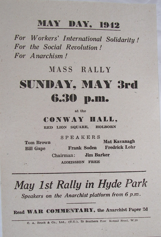 MAY DAY, 1942 [leaflet]